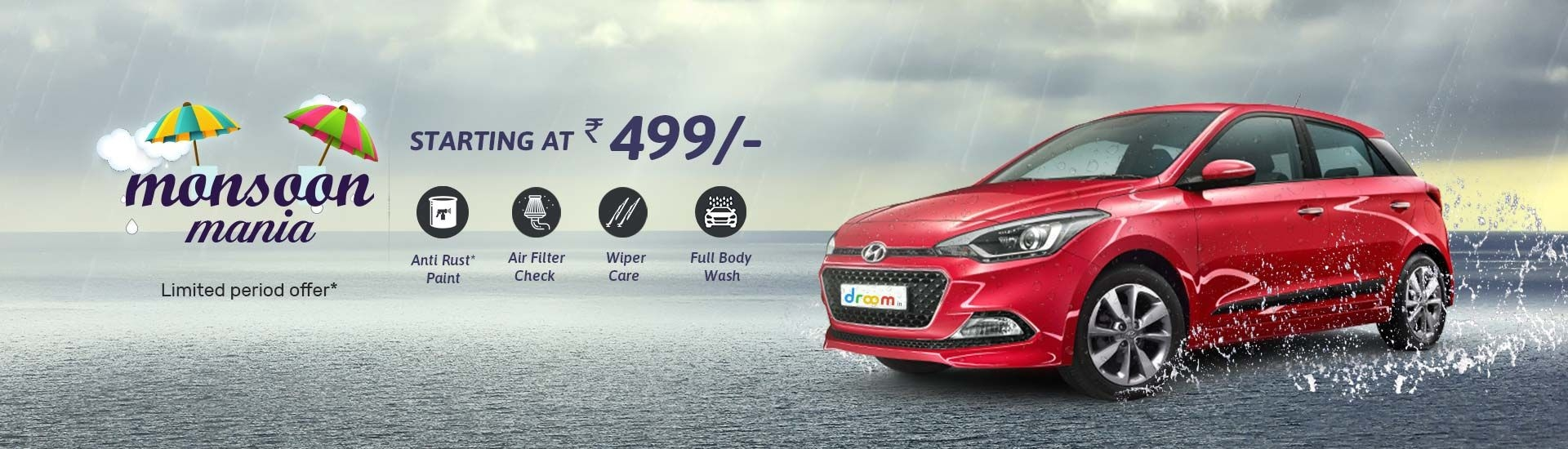 Monsoon Offers on Cars Services   Droom