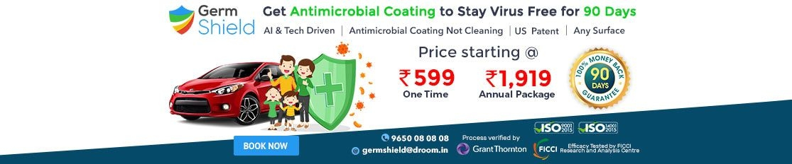 Germ shield | Register Now Option | Droom