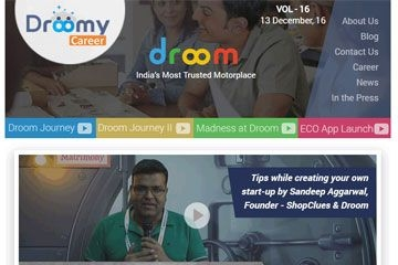 Droom career newsletter | Vol-16