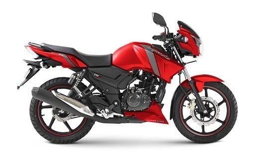 TVS Apache RTR 160cc Matt Red Rear Disc 2019