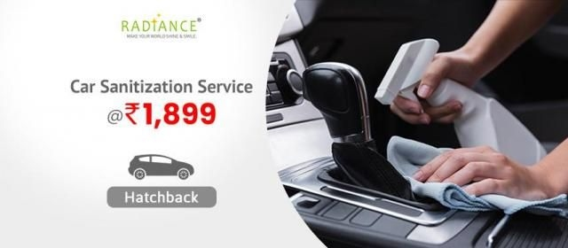 Car Sanitization Service - Hatchback - Radiance Space Solutions